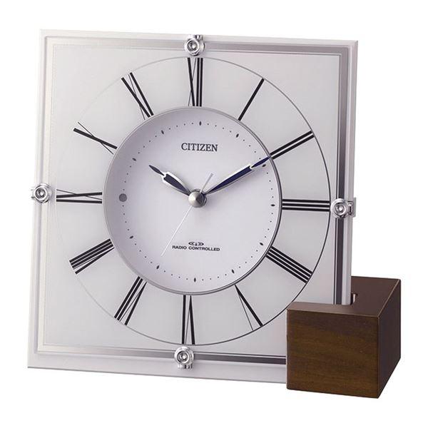 シチズン 電波置掛兼用時計 4RY707-003