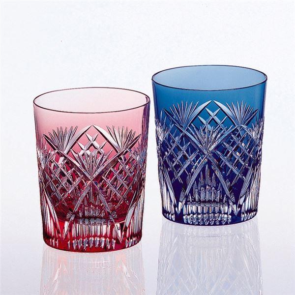 カガミクリスタル ペアマイグラス(笹っ葉に斜格子 紋) #2652