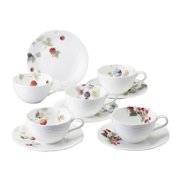 ナルミ ルーシーガーデン 5客アソートティー・コーヒー碗皿 96010-23067P