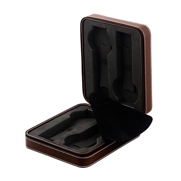 エスプリマ 4本時計トラベルケース ブラウン SP80014LBR