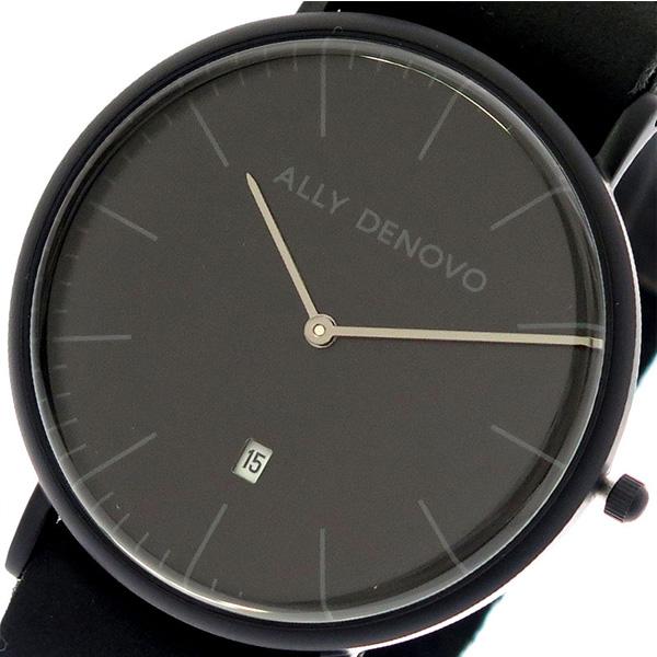 アリーデノヴォ ALLY DENOVO 腕時計 レディース 40mm AM5015-2 HERITAGE クォーツ ブラック ブラック(バンド調整器付)