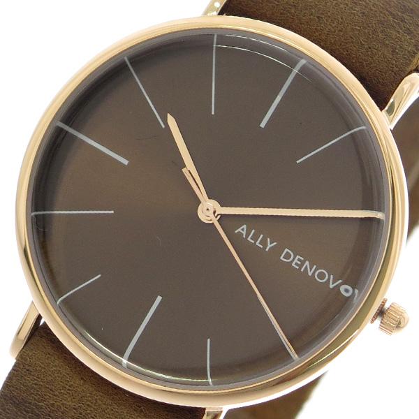 アリーデノヴォ ALLY DENOVO 腕時計 レディース 36mm AF5009-4 HERITAGE クォーツ ブラウン ブラウン(バンド調整器付)