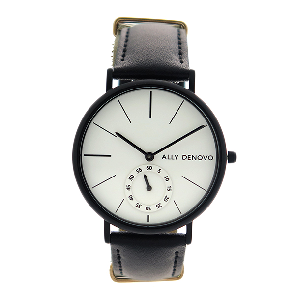 アリーデノヴォ ALLY DENOVO 腕時計 レディース 36mm AF5001-5 HERITAGE SMALL クォーツ ホワイト ブラック ホワイト(バンド調整器付)