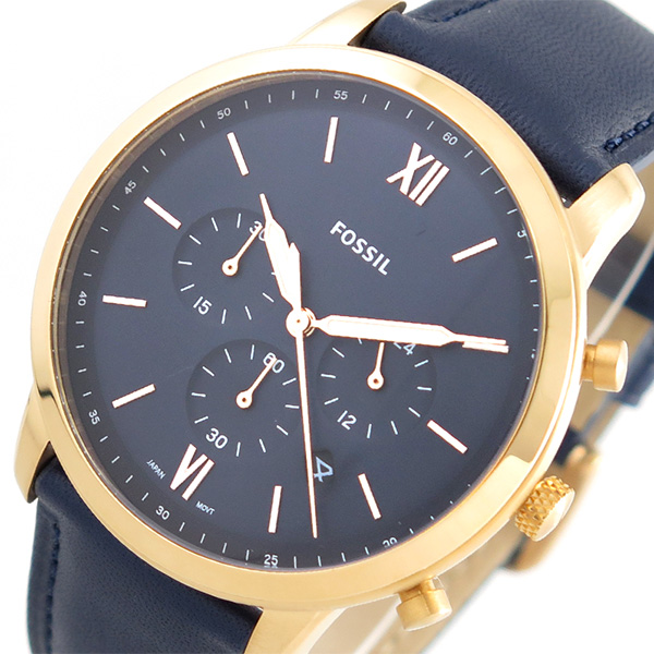 フォッシル FOSSIL 腕時計 メンズ FS5454 クォーツ ネイビー ネイビー(バンド調整器付)