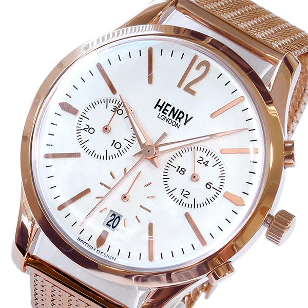 ヘンリーロンドン HENRY LONDON リッチモンド RICHMOND クロノ 39mm 腕時計 HL39-CM-0034 ホワイト ホワイト(バンド調整器付)