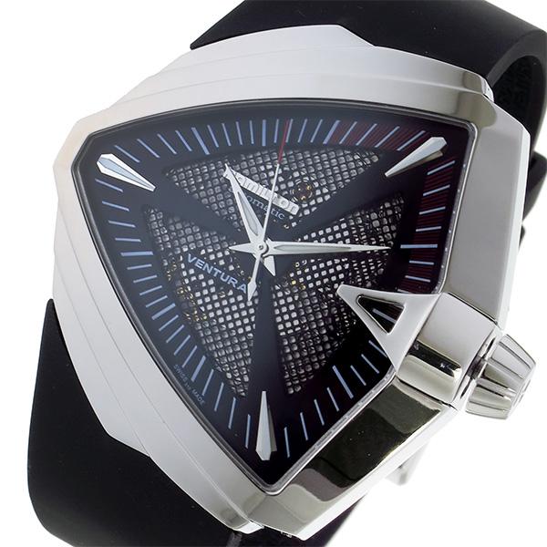 ハミルトン HAMILTON ベンチュラ XXL 自動巻き メンズ 腕時計 H24655331 ブラック ブラック(バンド調整器付)