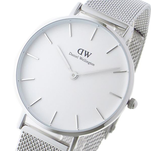 ダニエル ウェリントン クラシックペティート スターリング/ホワイト レディース 32mm 腕時計 DW00100164 ホワイト(バンド調整器付)