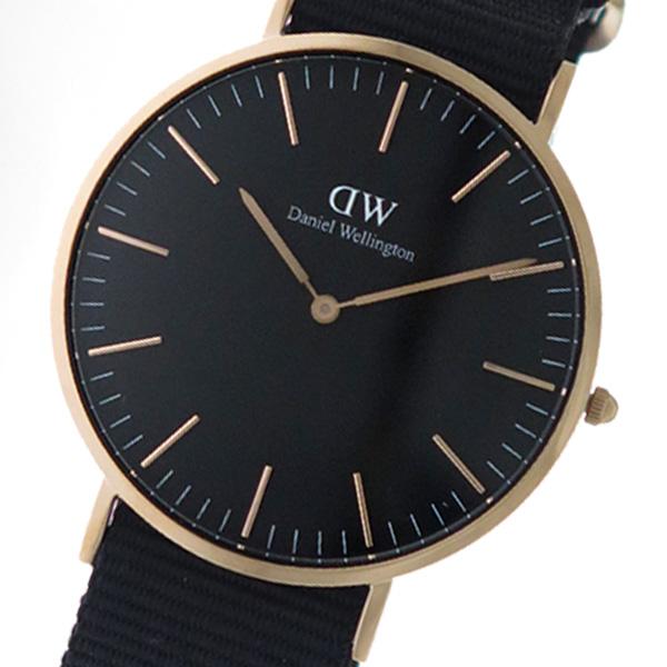 ダニエル ウェリントン クラシック コーンウォール/ローズ 40mm メンズ 腕時計 DW00100148 (DW00600148) ブラック(バンド調整器付)