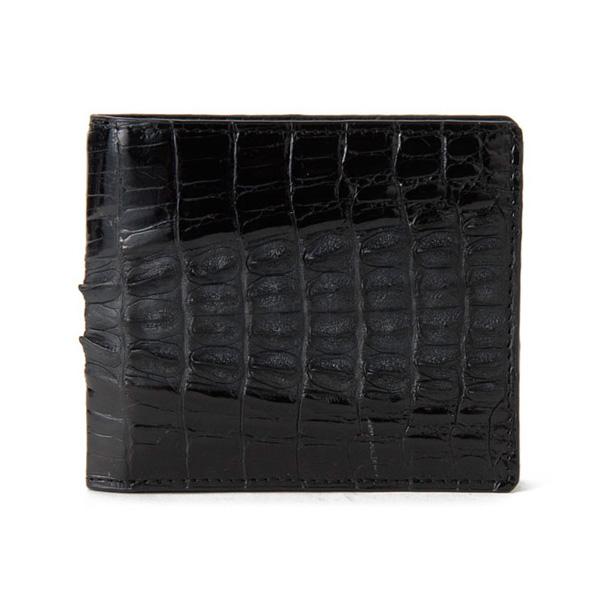 ロダニア RODANIA クロコ メンズ 二つ折り 短財布 CJN0214BKSP ブラックツートン ブラック