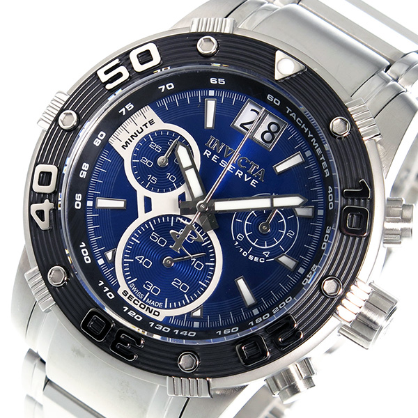 インヴィクタ INVICTA クオーツ クロノ メンズ 腕時計 10588 ブルー ブルー(バンド調整器付)