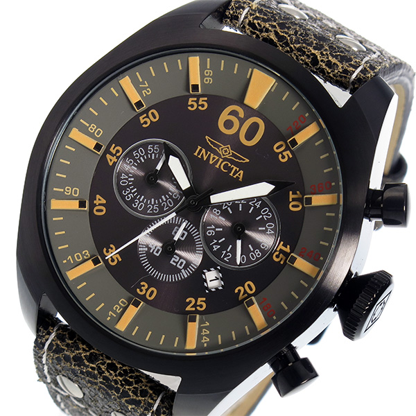 インヴィクタ INVICTA クオーツ クロノ メンズ 腕時計 19671 ブラック ブラック(バンド調整器付)