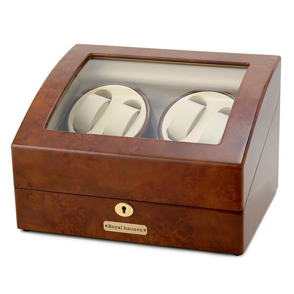 ロイヤル ハウゼン ワインダー ワインディングマシーン 倉 ブラウン OUTLET SALE 4本巻き 6本収納 GC03-D31