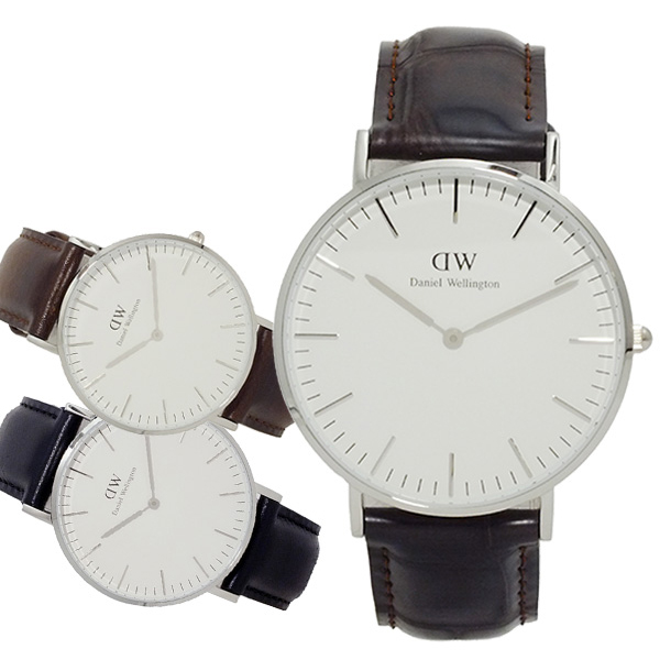 ダニエル ウェリントン ヨーク クオーツ 36 ユニセックス 腕時計 0610DW (DW00100055) ホワイト(バンド調整器付)