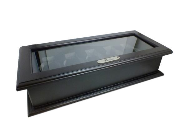 時計収納ケース 木製 5本用 189982 ブラック(バンド調整器付)