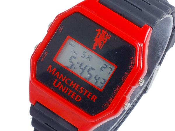 フットボールウォッチ マンチェスターユナイテッド デジタル メンズ 腕時計 GA4412 ブラック(バンド調整器付)