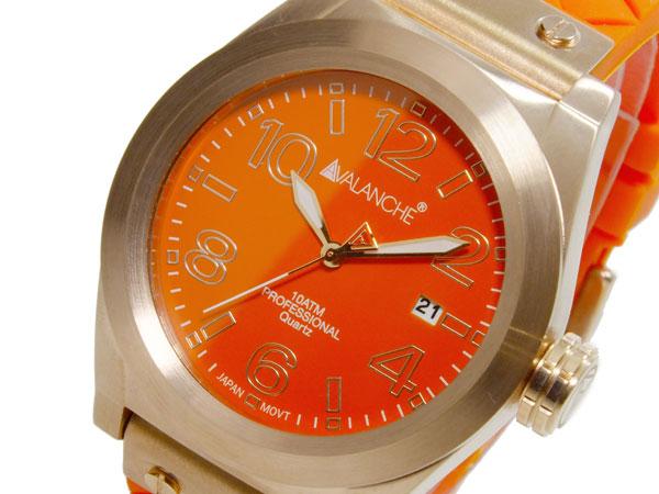 アバランチ AVALANCHE クオーツ ユニセックス 腕時計 AV1028-ORRG オレンジ(バンド調整器付)