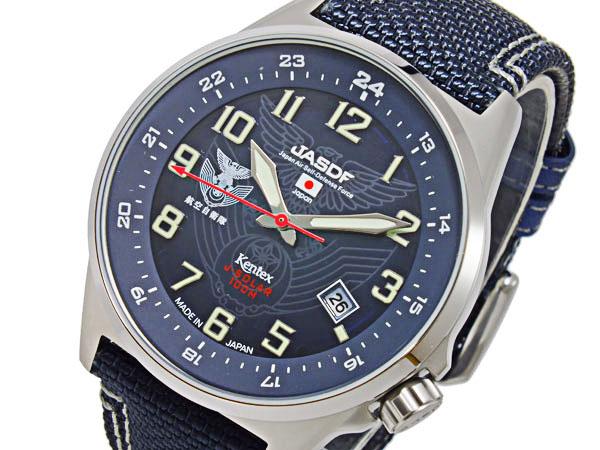 ケンテックス KENTEX JSDFソーラースタンダード メンズ 腕時計 S715M-02 ブルー ネイビー(バンド調整器付)