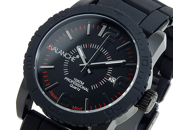 アバランチ AVALANCHE 腕時計 AV-1024-BKBK ブラック×ブラック ブラック(バンド調整器付)