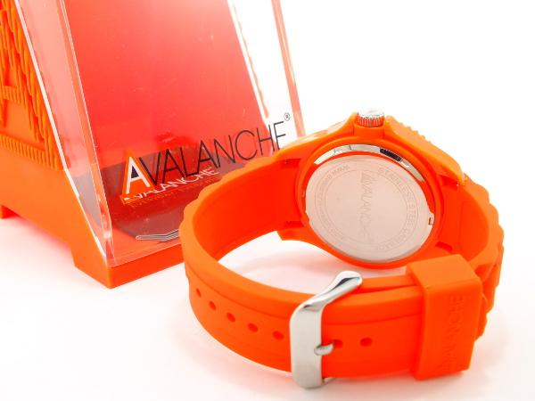 アバランチ AVALANCHE クオーツ 腕時計 AV-100S-OR-44 オレンジ オレンジ(バンド調整器付)