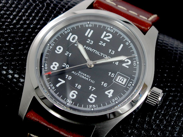 ハミルトン HAMILTON カーキフィールド オート 自動巻き 腕時計 H70455533(バンド調整器付)