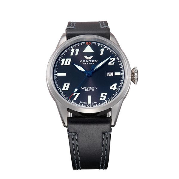 ケンテックス KENTEX 腕時計 メンズ レディース S688X-15 スカイマンパイロットアルファ SKYMAN PILOT ALPHA クォーツ ブラック 国内正規品(バンド調整器付)
