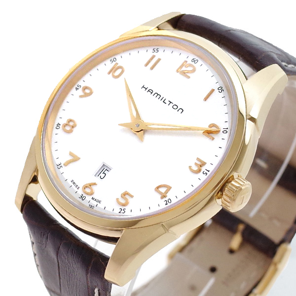 ハミルトン HAMILTON 腕時計 メンズ H38541513 ジャズマスター シンライン クォーツ ホワイト ブラウン(バンド調整器付)