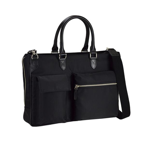 ブレリアス BRELIOUS ビジネスバッグ メンズ 26659-1H 2ポケットナイロンビジネスバッグシリーズ ブラック