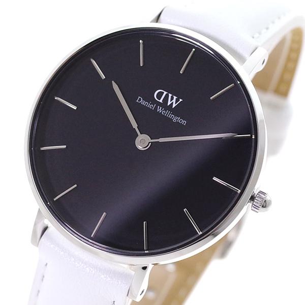 ダニエルウェリントン DANIEL WELLINGTON 腕時計 レディース DW00100284 クォーツ ブラック ホワイト(バンド調整器付)