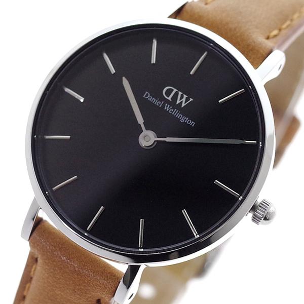 ダニエルウェリントン DANIEL WELLINGTON 腕時計 レディース DW00100234 クォーツ ブラック ライトブラウン(バンド調整器付)