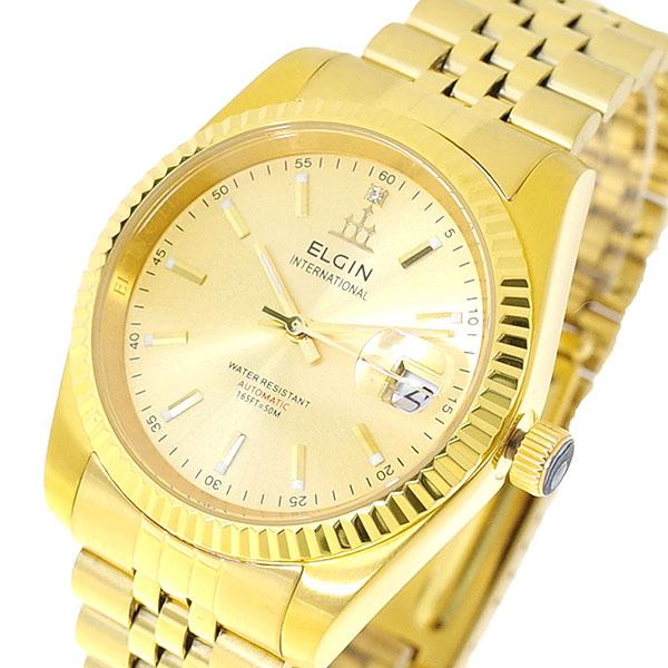 エルジン ELGIN 腕時計 メンズ FK1428G-G 自動巻き ゴールド 国内正規(バンド調整器付)