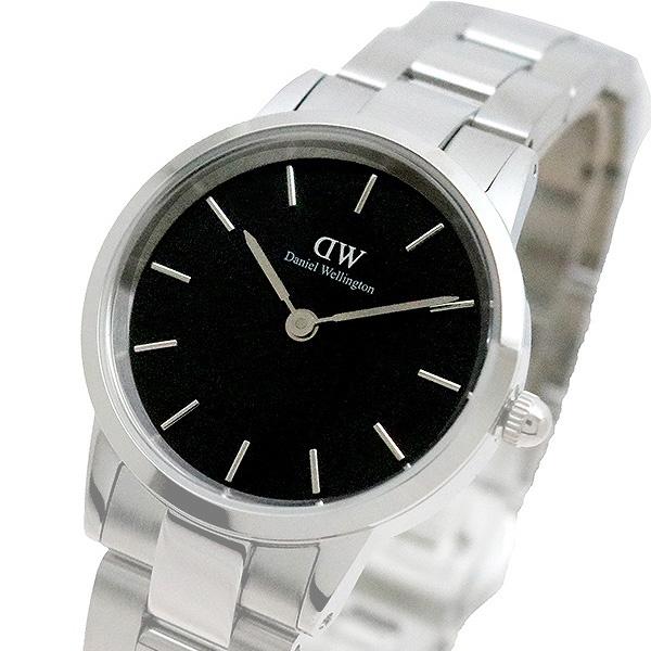 ダニエルウェリントン 腕時計 ICONIC 定番キャンバス 海外並行輸入正規品 LINK DW00100208 シルバー 28 ブラック