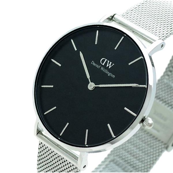 ダニエルウェリントン 海外 腕時計 CLASSIC 有名な STERLING DW00100304 シルバー ブラック 36