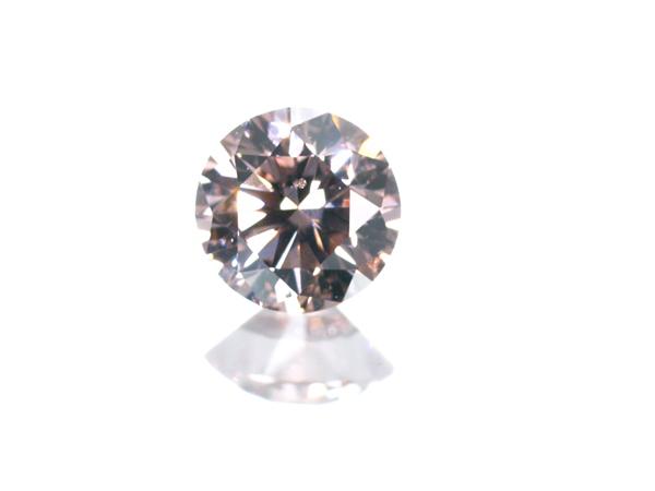 【超大幅値下げ品!】ピンクダイヤ ダイヤモンド 0.144ct FANCY ORANGY PINK SI1 ルース 裸石 ソーティング【中古】GENJ