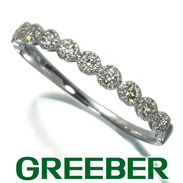 ダイヤ ダイヤモンド 0.20ct ハーフエタニティ リング 指輪 K18WG【中古】GENJ