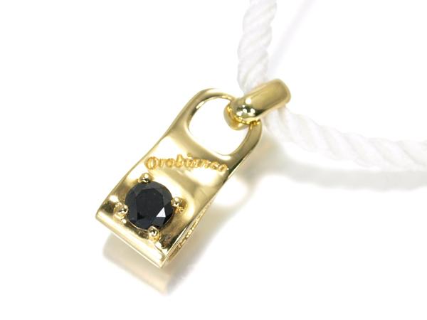 【超大幅値下げ品!】オロビアンコ ネックレス ブラックダイヤ ダイヤモンド 0.142ct K18YG/ホワイトコード ソーティングメモ【中古】BLJ/GENJ