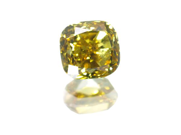 【超大幅値下げ品!】イエローダイヤ ダイヤモンド 0.303ct FANCY VIVID ORANGY YELLOW SI1 ルース 裸石 ソーティング【中古】GENJ