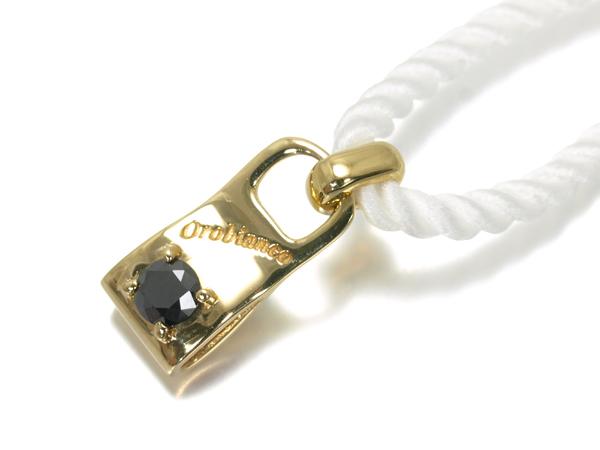 【超大幅値下げ品!】オロビアンコ ネックレス ブラックダイヤ ダイヤモンド 0.121ct K18YG/ホワイトコード ソーティングメモ【中古】BLJ/GENJ