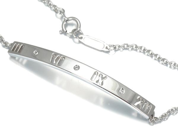 ティファニー ブレスレット ダイヤ ダイヤモンド アトラス ピアスド バー K18WG【中古】BLJ