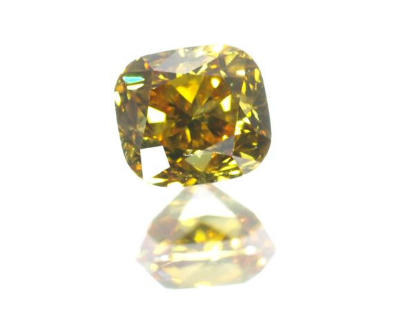 【超大幅値下げ品!】イエローダイヤ ダイヤモンド 0.314ct FANCY VIVID ORANGY YELLOW SI1 ルース 裸石 ソーティング【中古】GENJ