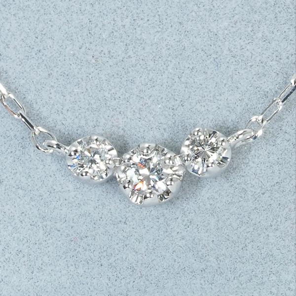 4℃ ネックレス ダイヤ ダイヤモンド K18WGBLJ GENJnymv8OwN0