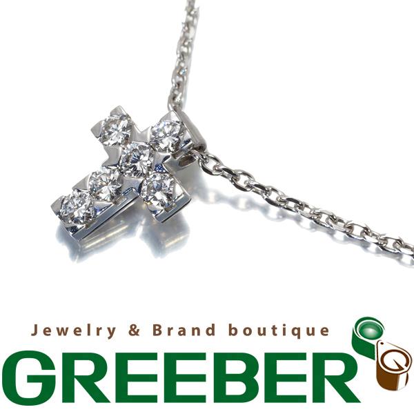 ヴァンクリーフ&アーペル ネックレス ダイヤ ダイヤモンド クロアミニアチュール クロス K18WG【中古】BLJ