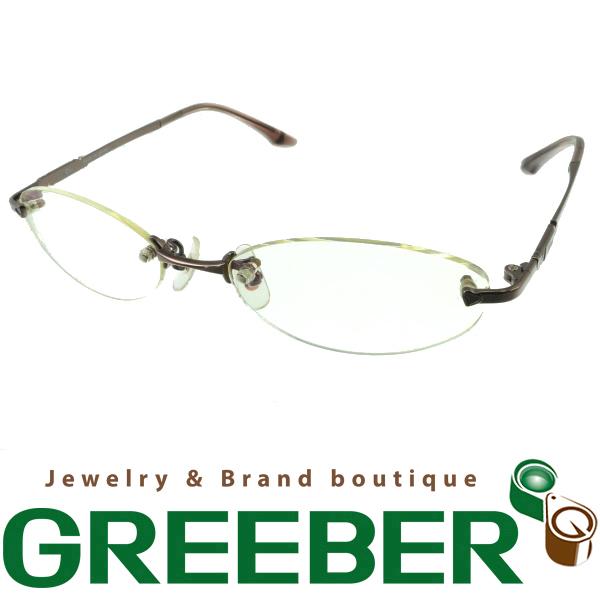 【超大幅値下げ品!】クリスチャンディオール メガネ 眼鏡フレーム ブラウンゴールド CD-7606J【中古】BSK