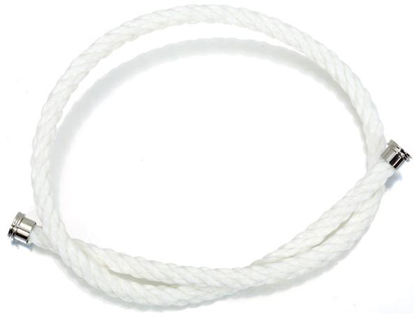 フレッド ブレスレット コード フォース10 LM ホワイト 2連 テキスタイルケーブル 15刻印 【中古】BLJ