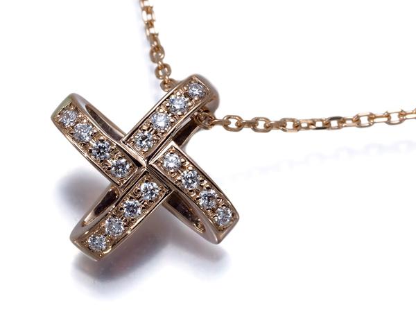 【超大幅値下げ品!】俄 ニワカ ネックレス ダイヤ ダイヤモンド K18PG【中古】BLJ/GENJ