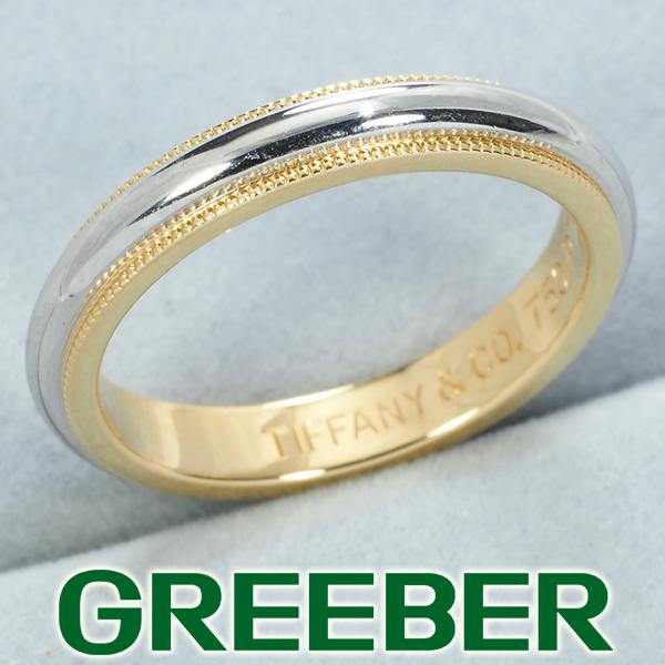 ティファニー リング 指輪 ミルグレイン 3.3mm 11.5号 Pt950/プラチナ/K18YG【中古】BLJ