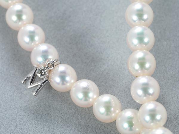 ミキモト ネックレス THE BEST OF THE BEST アコヤ真珠 パール 5.5-6.0mm珠 ダイヤ ダイヤモンド 袋【中古】BLJ