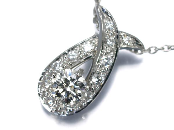 【超大幅値下げ品!】ダイヤ ダイヤモンド 0.227ct 0.12ct ネックレス Pt900/Pt850/プラチナ【中古】GENJ