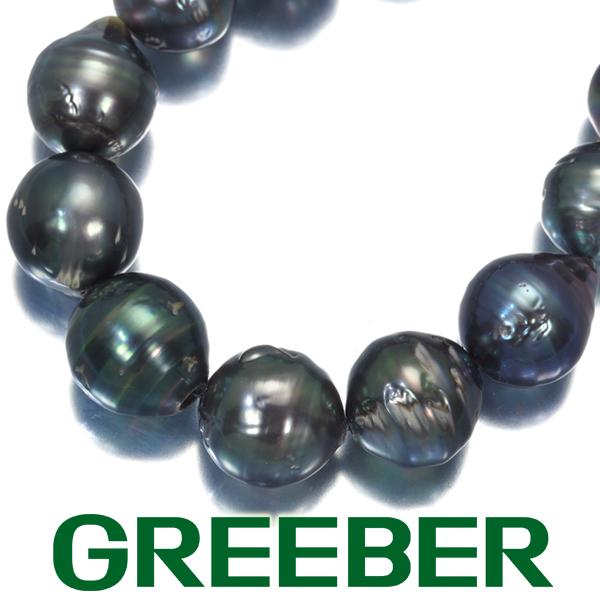 黒蝶真珠 返品送料無料 バロックパール 10.0-13.0mm珠 ネックレス シルバー 限界値下げ品 GENJ 新作製品 世界最高品質人気 中古
