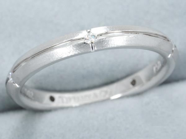 ティファニー リング ダイヤ ダイヤモンド ストリーメリカ K18WG 9号【中古】BLJ