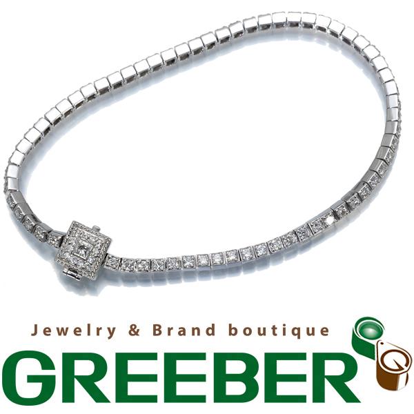 ダイヤ ダイヤモンド 1.50ct ブレスレット フルサークル Pt900/プラチナ【中古】GENJ